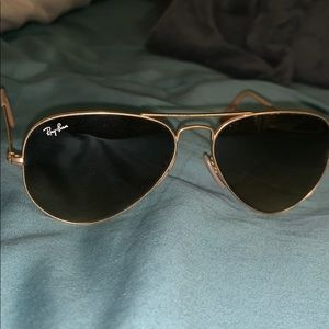 Ray-Ban! gold with brown gradient lens!